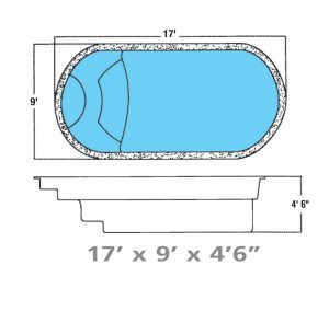 Plan piscine modèle F-1 par Piscine Fibro