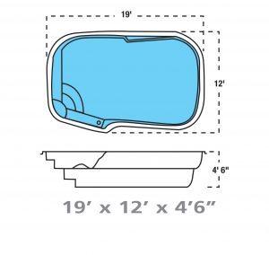 Plan piscine modèle F-11 par Piscine Fibro