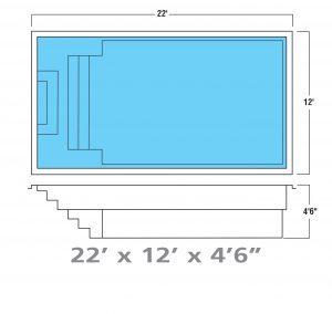 Plan piscine modèle F-25 par Piscine Fibro