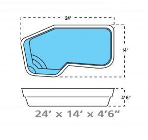Plan piscine modèle F-9 par Piscine Fibro